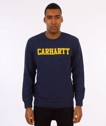 Carhartt-College Sweatshirt Bluza Blue/Yellow