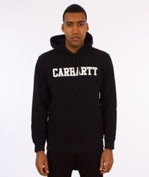 Carhartt-Hooded College Sweat Bluza Kaptur Black/White