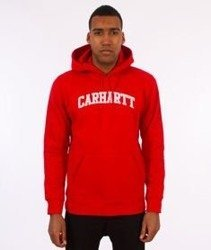 Carhartt-Yale Hooded Sweat Bluza Kaptur Chili/White