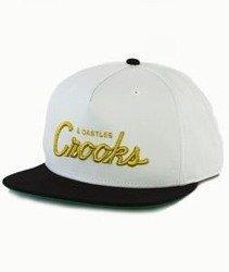 Crooks & Castles-Team Crooks Snapback Biały/Czarny