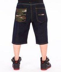 Mass-Phat Camo Shorts Baggy Dark Blue
