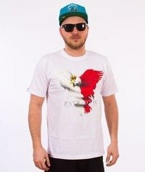 Patriotic-Eagle New T-shirt Biały