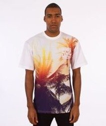 SmokeStory-Full Palms T-Shirt Biały/Multikolor