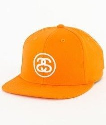 Stussy-Ss-Link Sp17 Snapback Czapka Orange