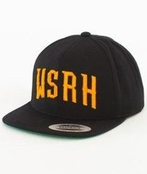 WSRH-Arch Logo Snapback Czarny/Pomarańczowy