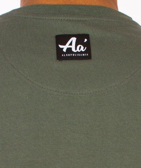 Alkopoligamia-Aa' Basic Front T-shirt Khaki