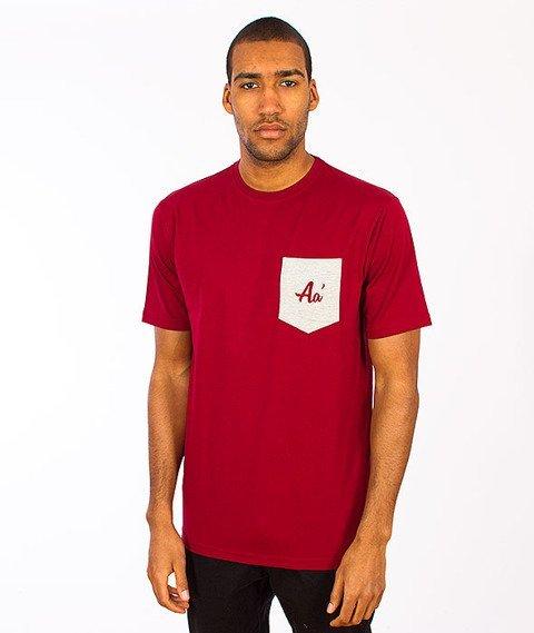 Alkopoligamia-Aa' Basic Pocket T-shirt Bordowy