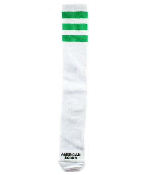 American Socks-Green Day Knee High Podkolanówki Białe