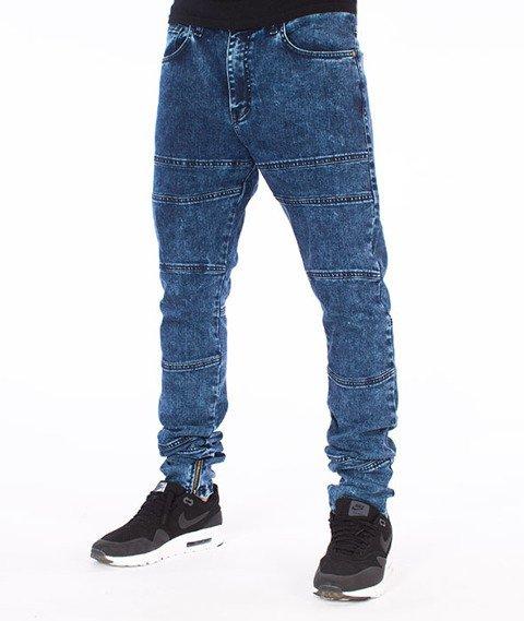 Backyard Cartel-Crust Antyfit Jeans Spodnie Marmurkowe