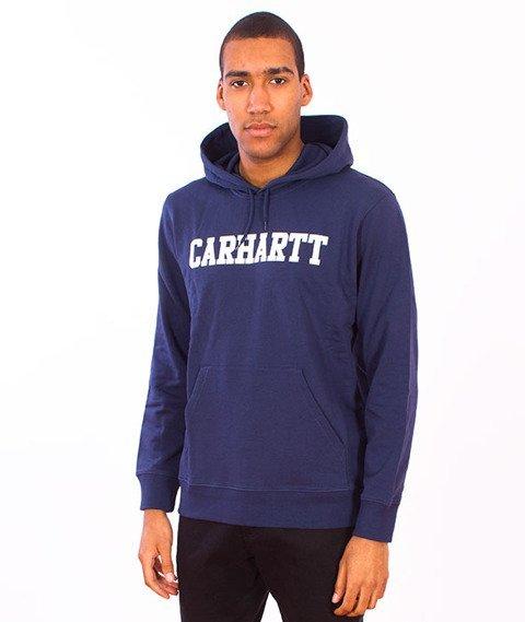 Carhartt-Hooded College Sweat Blue/White