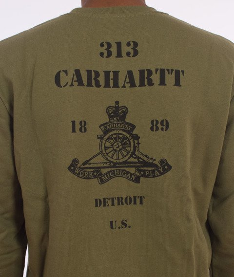 Carhartt WIP-Artillery Sweatshirt Cotton Rover Green/Black