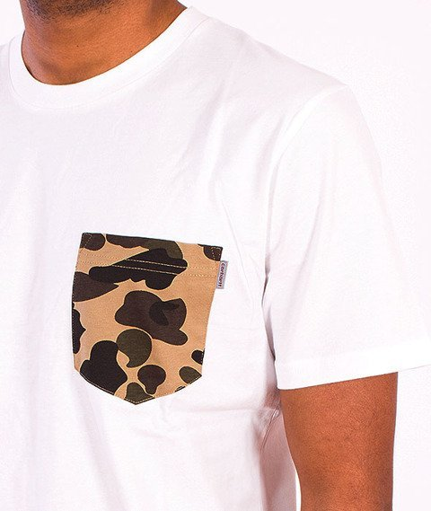 Carhartt WIP-Contrast Pocket T-Shirt  White/Camo Duck
