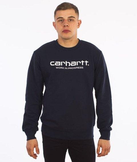 Carhartt-WIP Script Sweatshirt Navy/White
