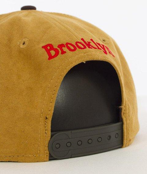 Cayler & Sons-Briangle Cap Snapback Honey Suede/Dark Brown