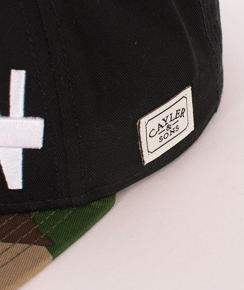 Cayler & Sons-Brooklyn Soldier Cap Black/Woodland/White