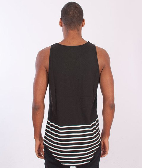 Cayler & Sons-On Point Scallop Tank Top Black/White