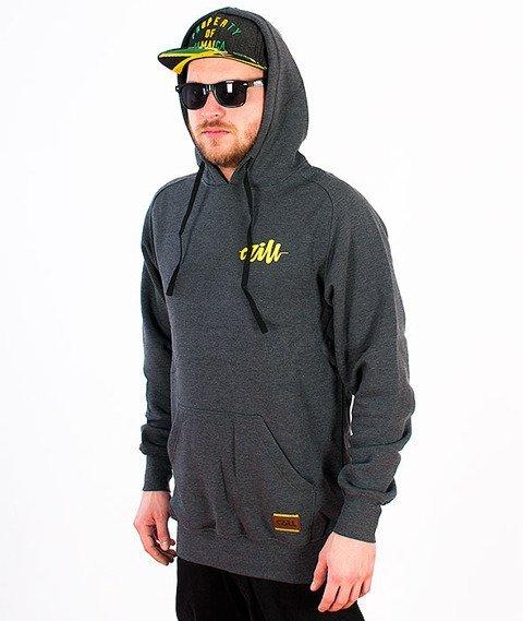 Czill-Klasyk Bluza Kaptur Grafitowa/Żółta