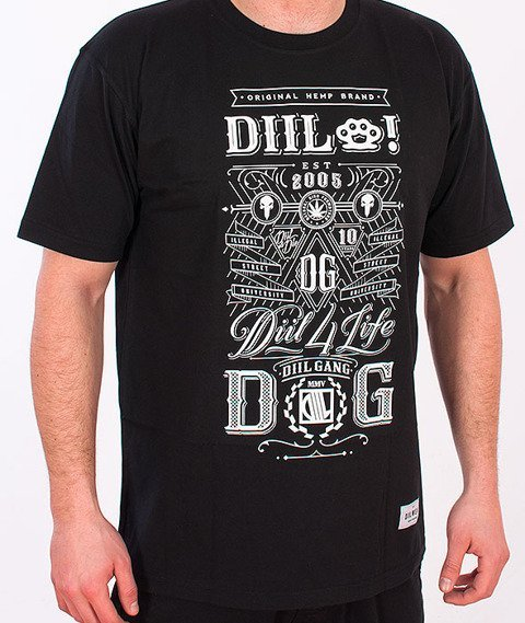 DIIL-True Gang T-shirt Czarny