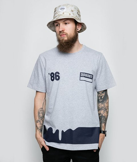 Diamante-86 T-Shirt Szary