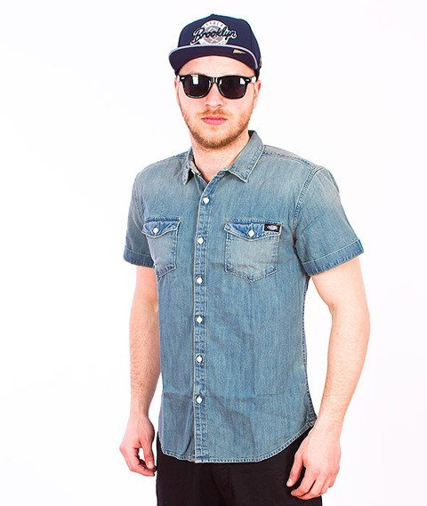 Dickies-Morro Bay Slim Shirt Blue