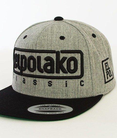 El Polako-Classic Snapback Szary/Czarny