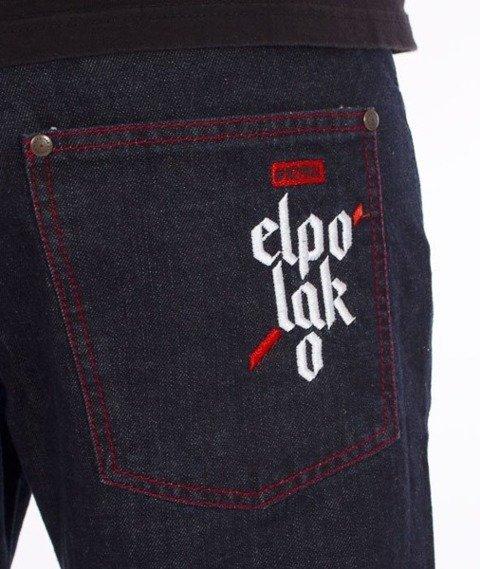 El Polako-Flag Slim Spodnie Jeans Dark Blue