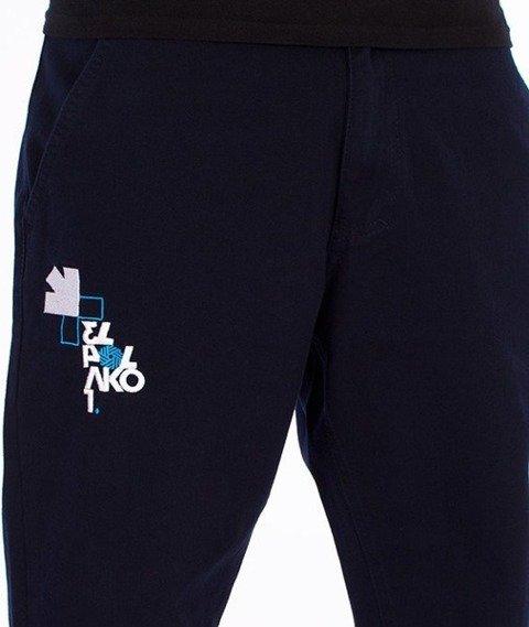 El Polako-Front Number Regular Jogger Spodnie Granatowe