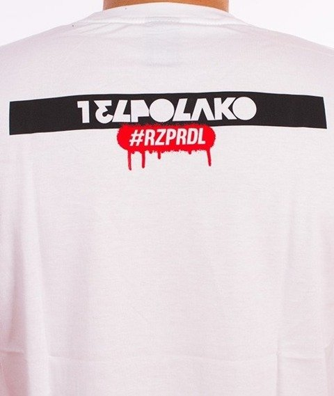El Polako-Hello My Name Is T-Shirt Biały