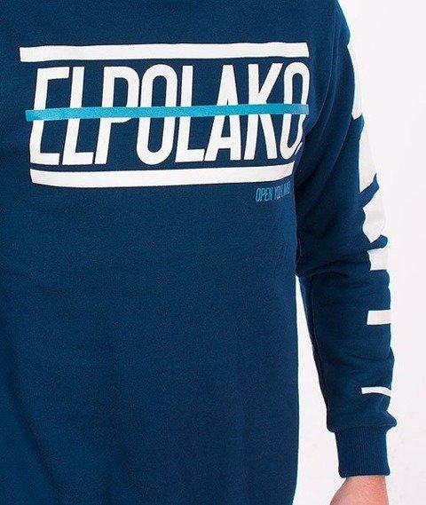 El Polako-Lines Bluza Granatowa