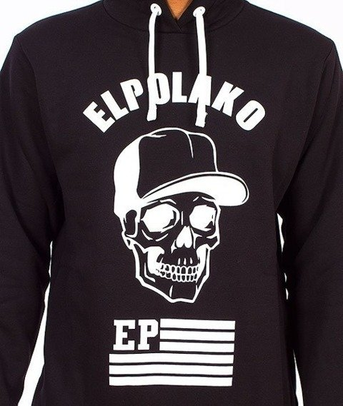 El Polako-Skull Kaptur Czarny/Multikolor