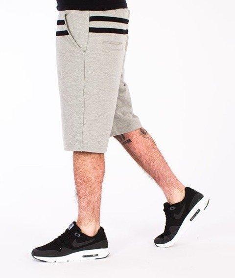 El Polako-Stripes Spodnie Krótkie Dresowe Szare