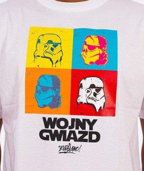 El Polako-Wojny Gwiazd T-Shirt Biały