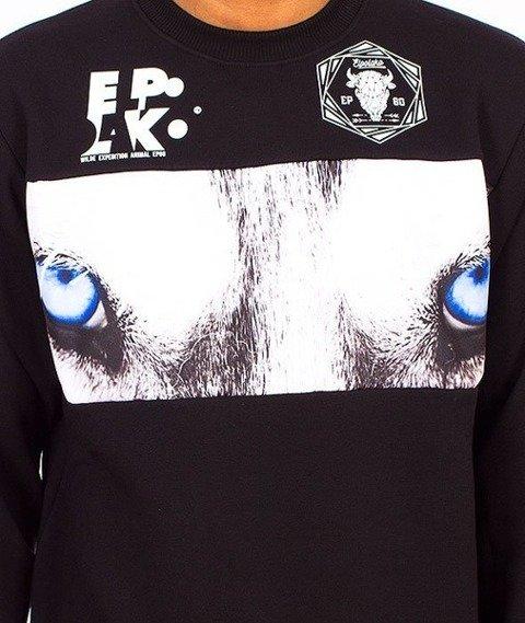 El Polako-Wolf Wild Eyes Bluza Czarna/Multikolor
