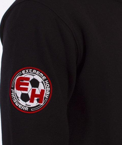 Extreme Hobby-Hooded Zip Football Terrorist Bluza Kaptur Czarny