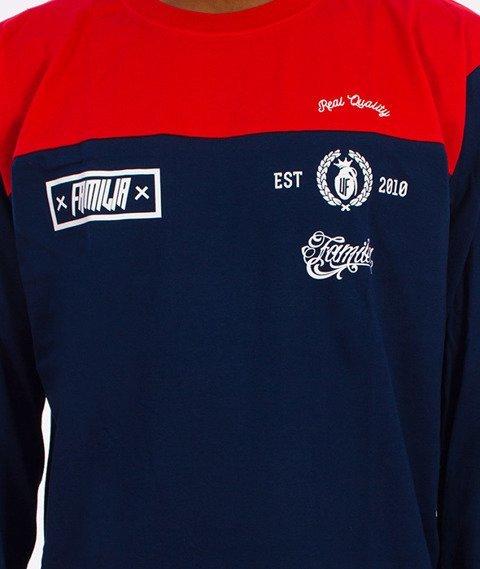 Familia Wear-82 Longsleeve Czerwony/Granatowy