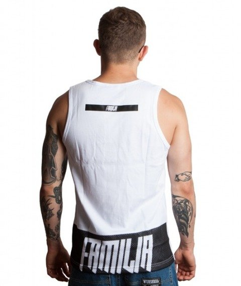 Familia Wear-Granat Dym Tank-Top Biały