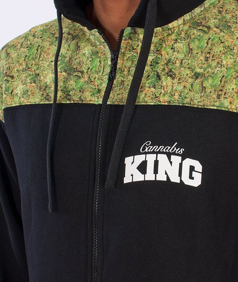 Ganja Mafia-Cannabis King Zip Bluza Czarna