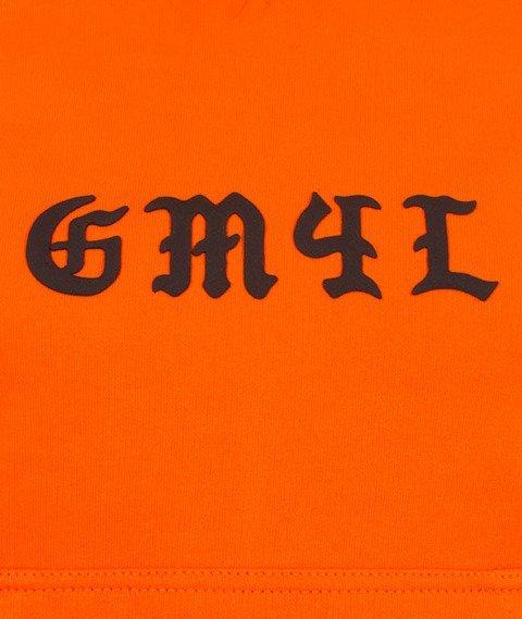 Ganja Mafia-GM4L Gothic Bluza Damska Pomarańczowa