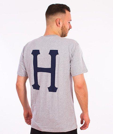 HUF-Classic H Pocket T-Shirt Szary