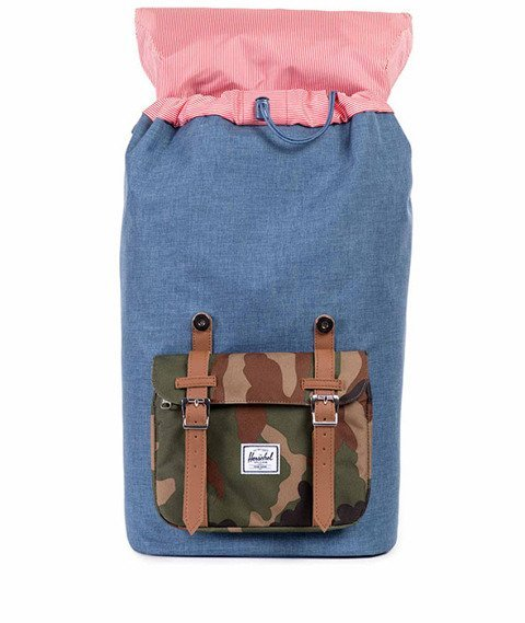 Herschel-Little America Backpack Navy Crosshatch/Woodland Camo [10014-00749]
