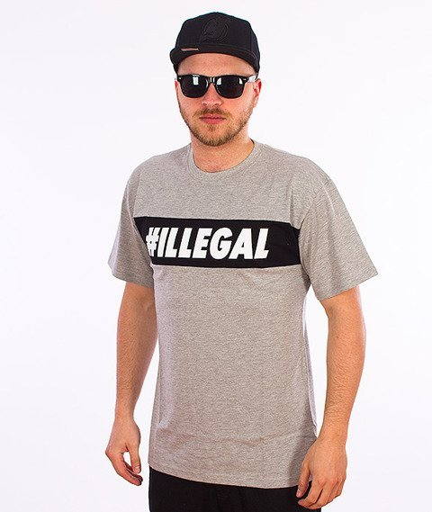 Illegal-#Illegal Line T-Shirt Szary