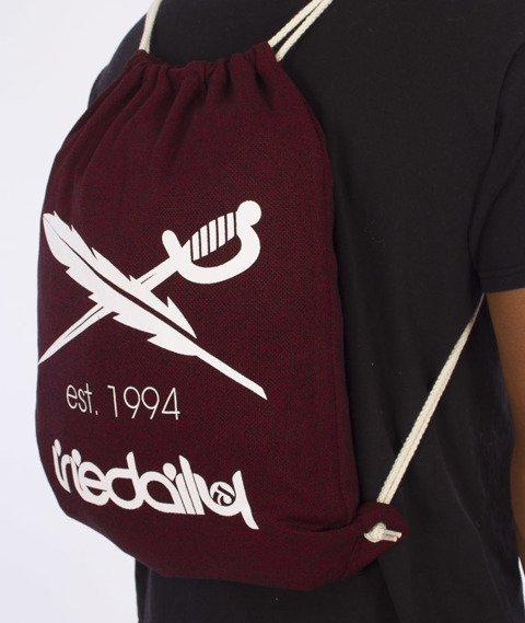 Iriedaily-Desire Nerd Beutel Sports Bag Worek Maroon Melange