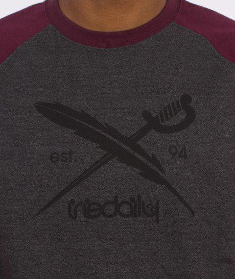 Iriedaily-Rugged Flag Crew Bluza Antra Red