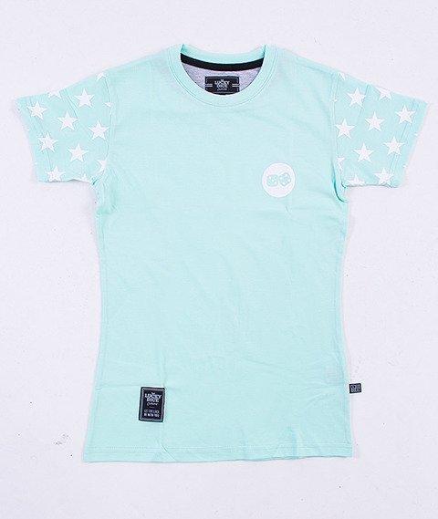 Lucky Dice-Stars T-Shirt Damski Miętowy