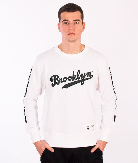 Majestic-Brooklyn Dodgers Crewneck White