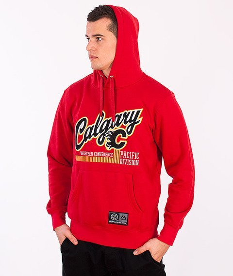 Majestic-Calgary Flames Hoodie Red