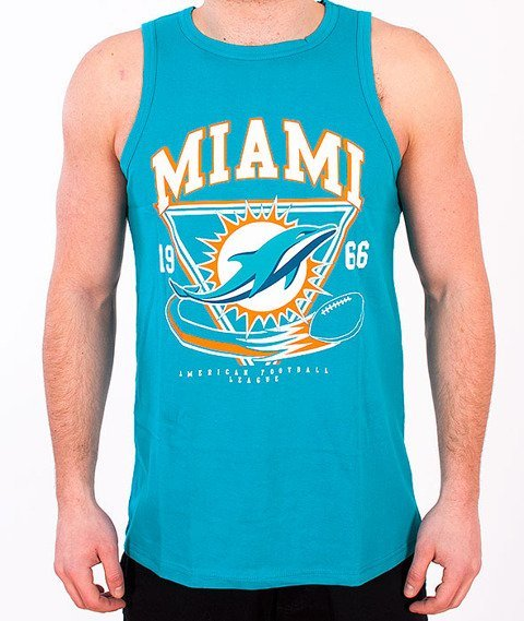Majestic-Miami Dolphins Tank-Top Turquoise