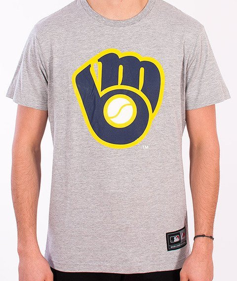 Majestic-Milwaukee Brewers T-shirt Grey