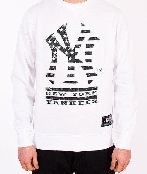 Majestic-New York Yankees Crewneck White