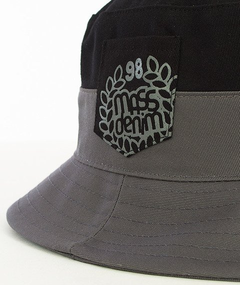 Mass-Base Pocket Bucket Hat Czarny/Szary